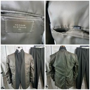 Haggar Suits & Blazers - Haggar Clothing Co. 40S Olive Striped 2pc Suit
